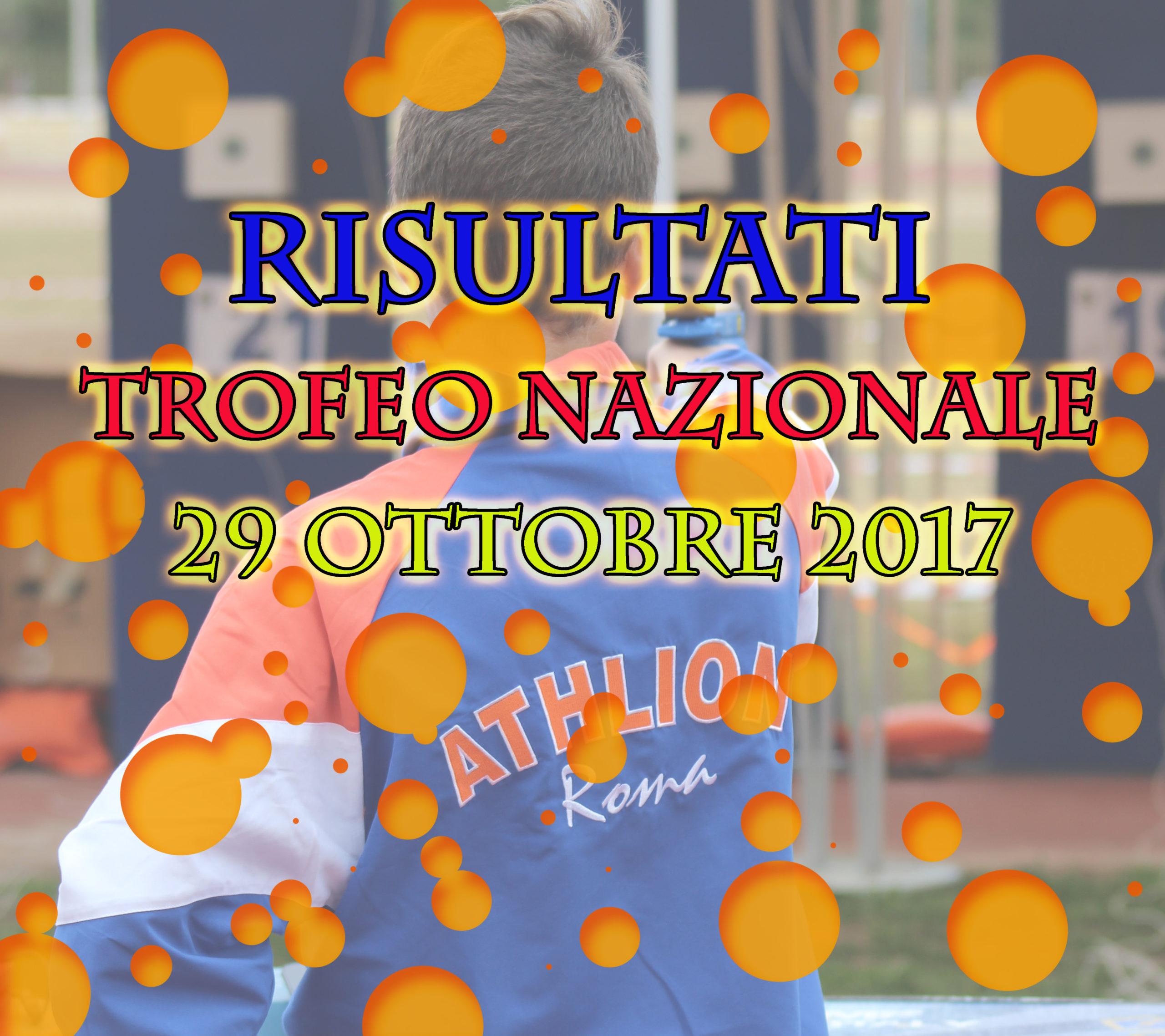 TROFEO NAZIONALE 29/10/2017